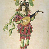 Людовик XIV в роли Играющего на лютне в Балете ночи (1653)