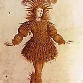 Людовик XIV в образе Солнца в «Королевском балете ночи» Жана Батиста Люлли. Эскиз Анри де Жиссе